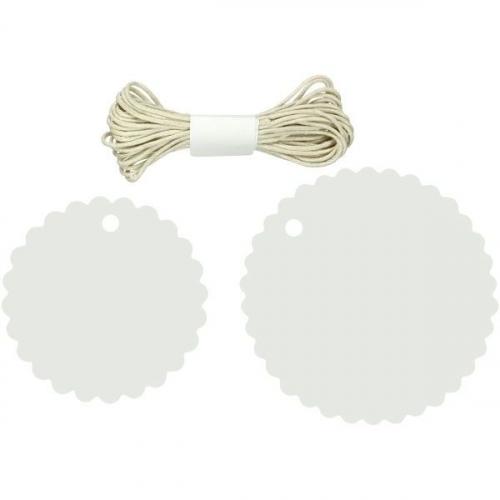 Zawieszki papierowe okrągłe (412555)