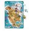 Puzzle ramkowe 53: Ameryka Północna (DOPR300177) Wiek: 5+