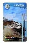 Kredki Lyra Graduate Aqua Metal Box 12 kolorów