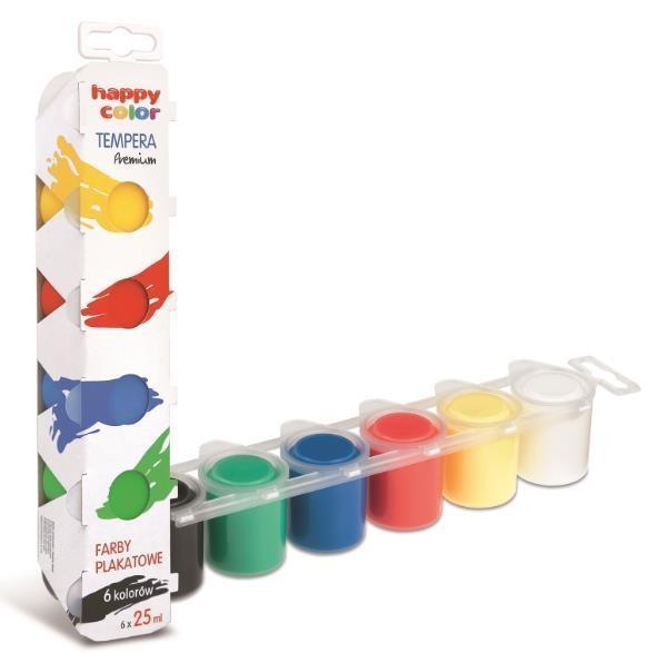 Farba plakatowa Tempera 6 kolorów