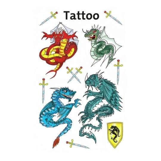 Tatuaże dla dzieci - smoki (56404)