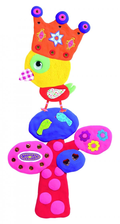 Zestaw artystyczny z plasteliną i ozdobami Zwierzątka (DJ08911)