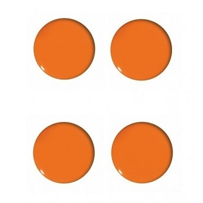 Magnesy do tablic pomarańczowe 40mm/4szt. - gładkie (GM402-P4)