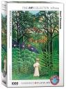 Puzzle 1000 Kobieta w egzotycznym ogrodzie
