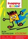 Blok techniczny A4/10 - kolorowy (HA 3550 2030-09) 170g/m2