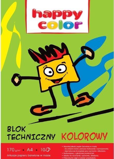 Blok techniczny A4/10 - kolorowy (HA 3550 2030-09)