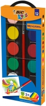 Farby akwarelowe 12 kolorów BIC
