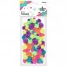 Pompony akrylowe, 68 szt. - neonowe (282920)