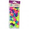 Neonowe pompony akrylowe mix 68 szt. YFS 0125