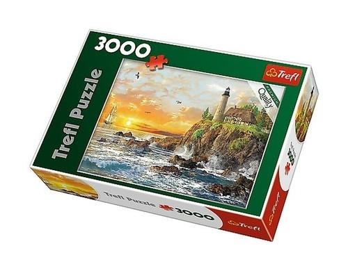 Puzzle Zachód nad skalistym wybrzeżem 3000 (33044)