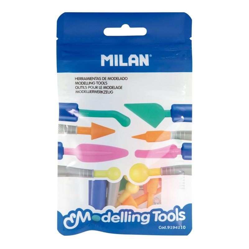 Narzędzia do modelowania MILAN, zestaw: 2 uchwyty + 8 różnych końcówek (9194110)