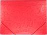 Teczka PP Titanum A4 z gumką, wzory - czerwona (302308)