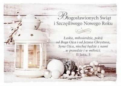 Kartka Boże Narodzenie 3 - Łaska, miłosierdzie..