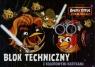 Blok techniczny A4 Angry Birds z kolorowymi kartkami 10 kartek