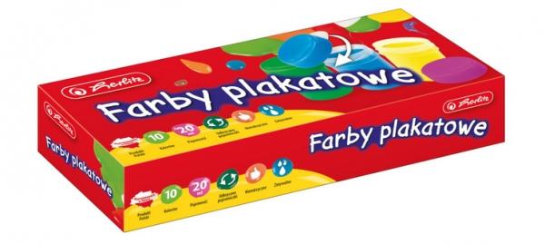 Farby plakatowe szkolne 10 kolorów (9560442)
