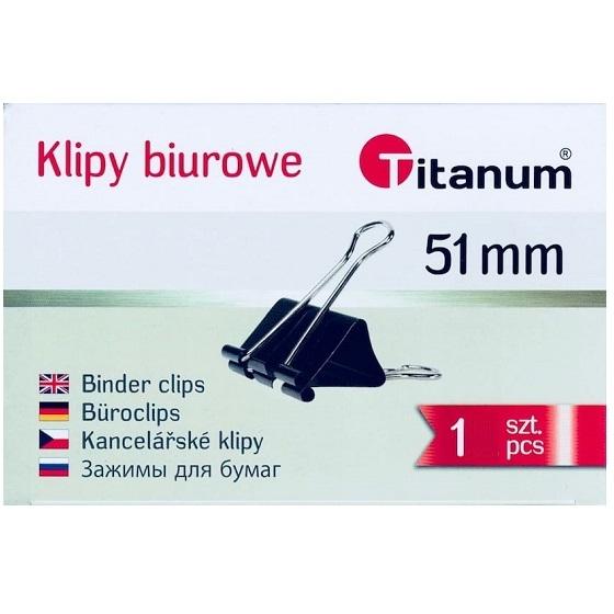 Klipy Titanum BC51 51mm, 12 szt. - czarne (64490)