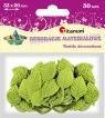 Dekoracje materiałowe listki zielone 30 sztuk