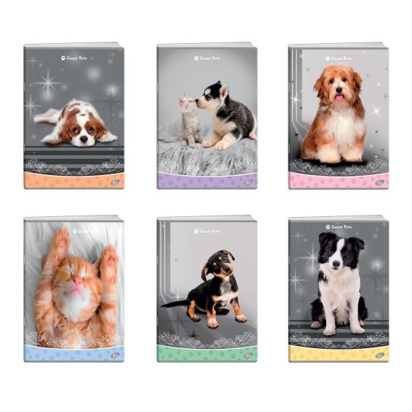 Zeszyt A5/32k kratka - Sweet Pets (EL-M13-032-KA5)