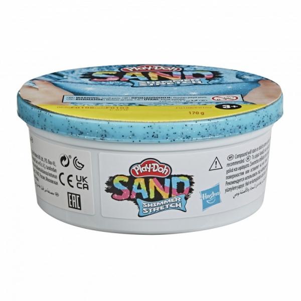 Piasek kinetyczny PlayDoh Sand Brokatowy niebieski (F0102/F0108)