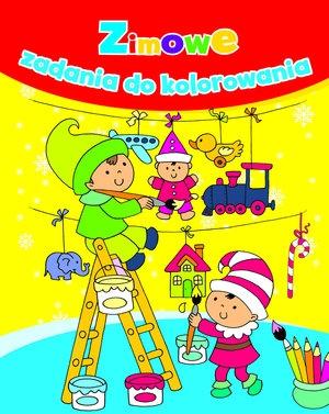 Zimowe zadania do kolorowania Anna Wiśniewska