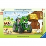 Puzzle ramkowe 15: Traktor na polu (6044) Wiek: 3+