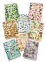Zeszyt A5 Pigna Nature Flowers w kratkę 80 kartek mix wzorów
