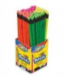 Ołówek z gumką neon