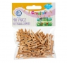 Mini spinacze drewniane 50 sztuk - rustykalne klamerki (335119025)