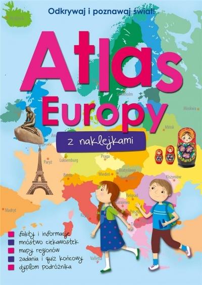 Atlas Europy z naklejkami praca zbiorowa