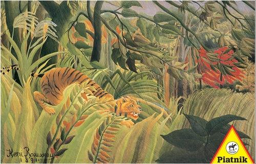 Puzzle Piatnik Rousseau Tygrys w tropikalnej burzy 1000 elementów