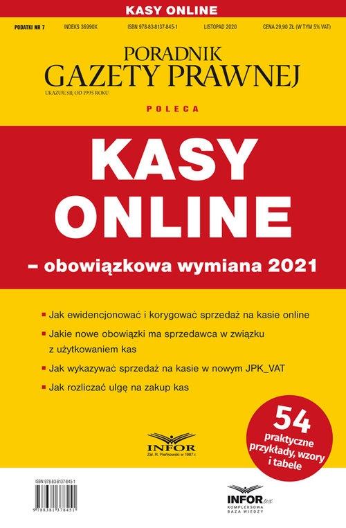 Kasy online obowiązkowa wymiana 2021 Praca zbiorowa