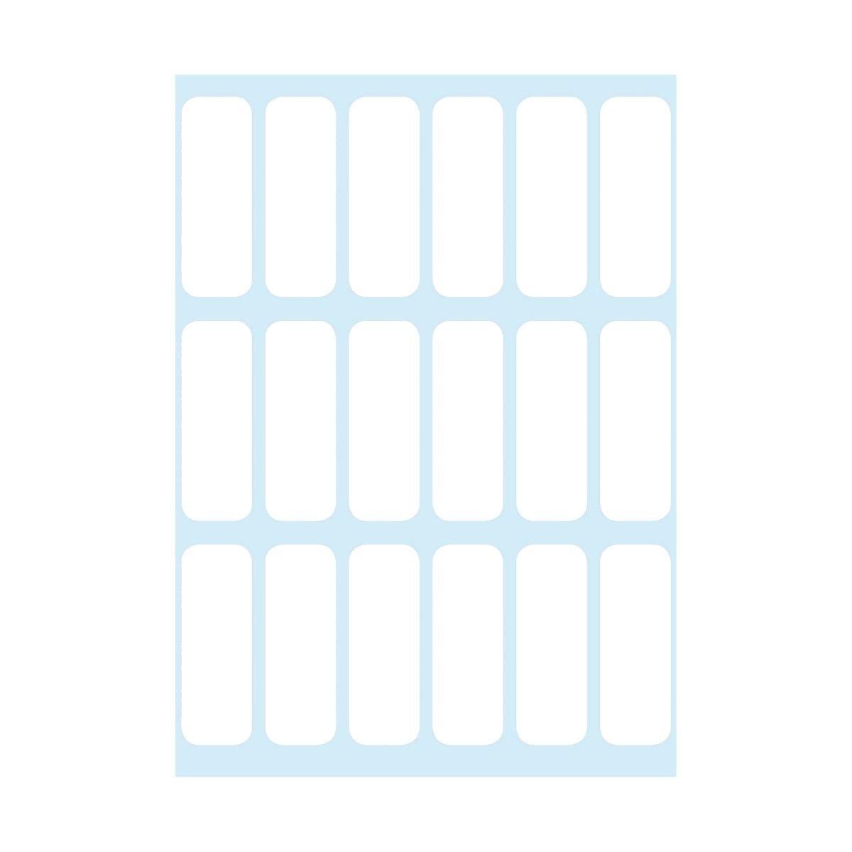 Etykiety opisowe samoprzylepne, 132 szt. - białe (830448)