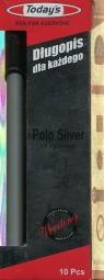 Długopis Todays Polo Silver a'10 czarny 10 sztuk
