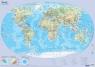 Mapa świate fizyczna Plansza edukacyjna na ścianę i biurko
