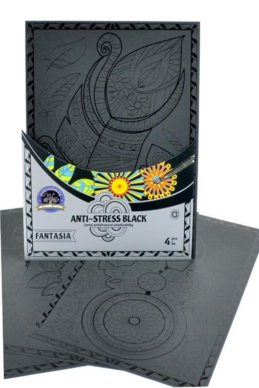 Centropen: Kolorowanka antystresowa Anti-stress Black 9997 - Fantazja