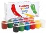 Farba plakatowa Tempera 12 kolorów HAPPY COLOR (HA 3310 0025-K12)