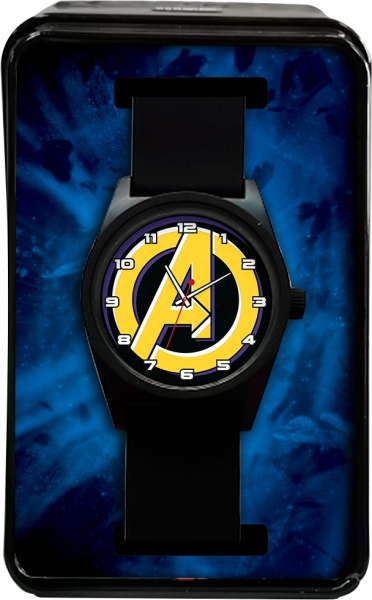 Zegarek analogowy  w metalowym opakowaniu - Avengers (MV15787)