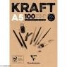 Blok brązowy KRAFT A5/100K klejony 90g