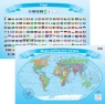 Świat Polityczny z flagami dwustronna podkładka na biurko ArtGlob