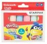 Kreda chodnikowa Jumbo Play-Doh - 6 kolorów (453897)