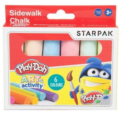 Kreda chodnikowa Jumbo Play-Doh, 6 kolorów (453897)