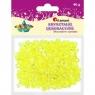 Kryształki plastikowe 40g. jasnożółty (363509)