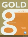 Gold Pre-First Coursebook z płytą CD Edwards Lynda, Naunton Jon