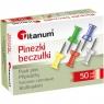Pinezki beczułki Titanum, 50 szt. - kolorowe (80610)