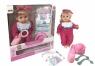 Mówiąca lalka Agusia w różowej piżamce w kropki z akcesoriami (02744)