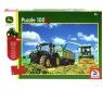 Puzzle 100: John Deere - Traktor 7310R + zabawka