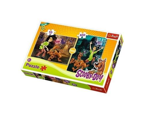 Puzzle Scooby-Doo Strachy na lachy 2 w 1 (Uszkodzone opakowanie) (34144)