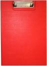 Deska A5 PVC z klipsem i okładką czerwona D.RECT