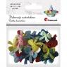 Dekoracje materiałowe kokardki, 40 sztuk (284787)