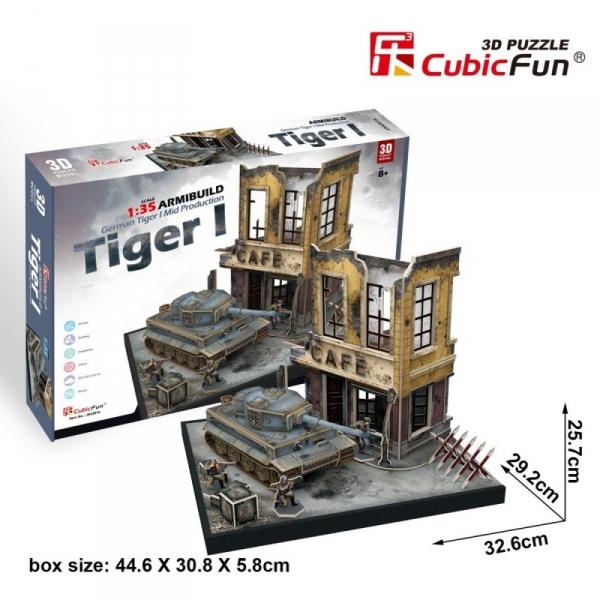 Puzzle 3D Czołg German Tiger 258 elementów (306-24201)